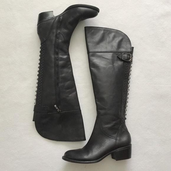 7460fe9b851 Vince Camuto Bollo Leather Stud Knee High Boot 7.5.  M 5bfa237e3e0caa168becf784